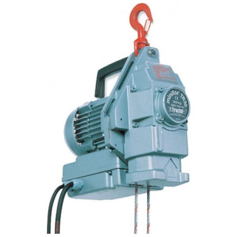 Minifor argano elettrico a fune passante soletra for Paranco elettrico 1000 kg